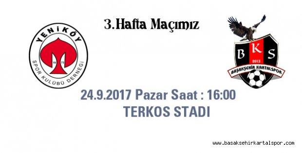 3.Hafta Maçımız Deplasmanda GOP Yeniköyspor ile