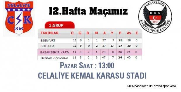 Celaliye-Başakşehir Kartalspor Maçına Davet